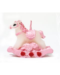Pink Rocking Horse Candle
