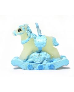 Blue Rocking Horse Candle