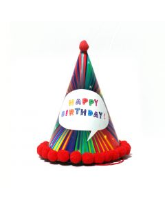 Multicolor Happy Birthday Cap