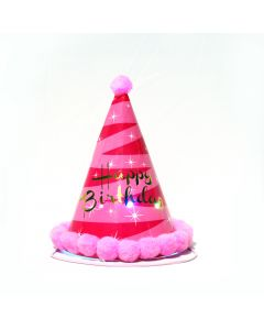 Pink Happy Birthday Cap