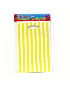 Yellow Stripes Loot Bags
