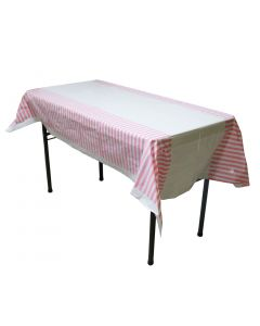 Pink Stripes Table Cover