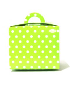 Green Polka Dot Cupcake Box