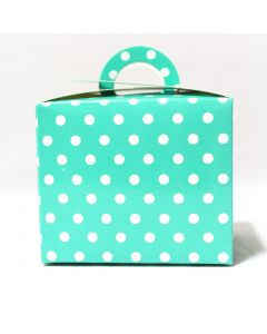 Blue Polka Dot Cupcake Box