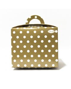 Brown Polka Dot Cupcake Box