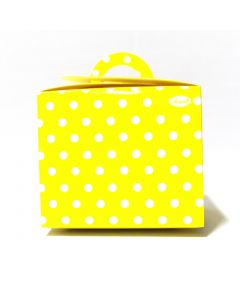 Yellow Polka Dot Cupcake Box