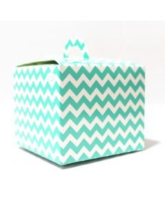 Blue Chevron Cupcake Box