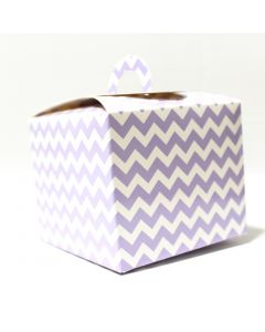 Light Purple Chevron Cupcake Box