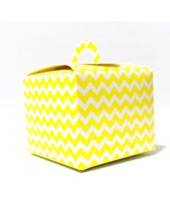 Yellow Chevron Cupcake Box