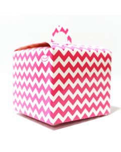 Pink Chevron Cupcake Box