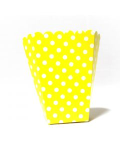 Yellow Polka Dot Popcorn Box