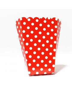 Red Polka Dot Popcorn Box