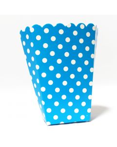 Blue Polka Dot Popcorn Box