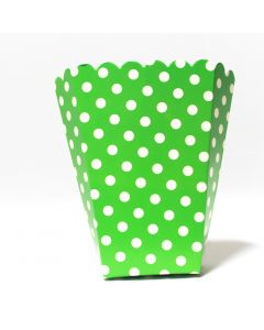 Green Polka Dot Popcorn Box