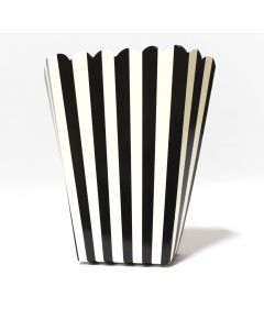 Black Stripes Popcorn Box