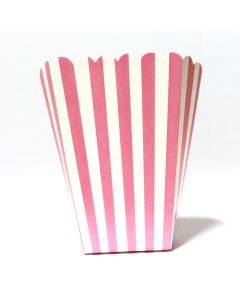 Light Pink Stripes Popcorn Box