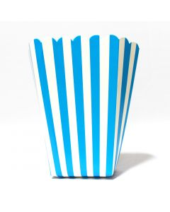 Blue Stripes Popcorn Box