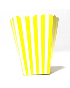 Yellow Stripes Popcorn Box