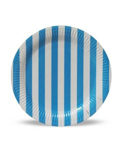 Blue Stripes Paper Plates