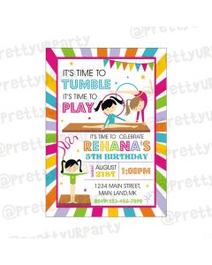 Gymnastics Theme E-Invitations