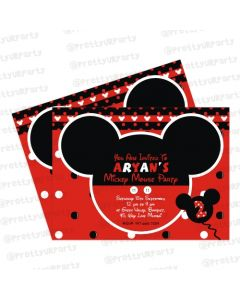 Mickey Mouse Inspired Invitations