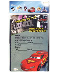 Disney Cars Inspired Invitations