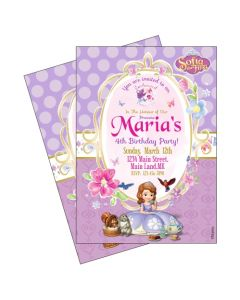 Sofia the first Enchanted Garden Party Invitations