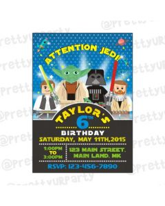 Star Wars Inspired Invitations