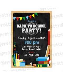 Back to School Invitations