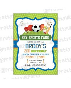 Sports Theme E-Invitations