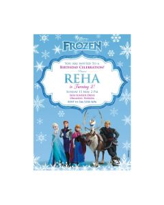 Frozen Invitations Customized