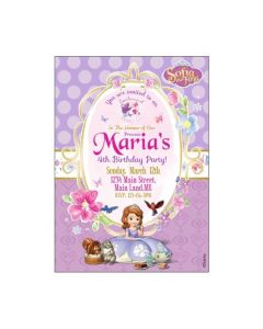 Sofia the first Enchanted Garden Party E-Invitations