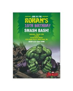 Hulk Theme E-Invitations