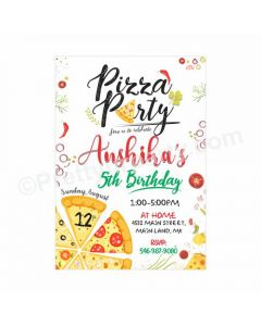 Pizza Party Theme Invitations