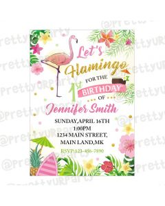 Flamingo Theme Invitations