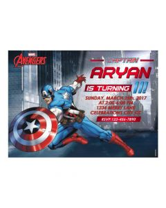 Captain America Theme E-Invitations