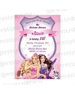 Barbie Rockstar Invitations