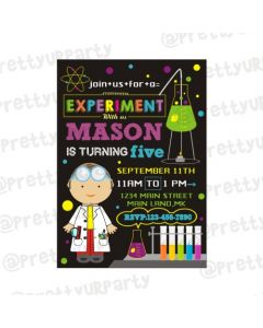 Mad Scientist Theme Invitations