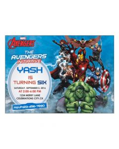 Avengers Theme E-Invitations