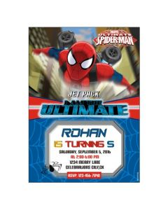 Spiderman Theme E-Invitations