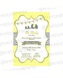 Elephant Baby shower Theme E-Invitations
