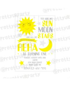 Sun and Moon Invitations
