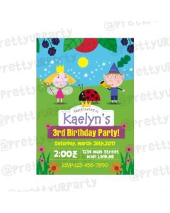 Ben and Holly's Little Kingdom Theme Invitations