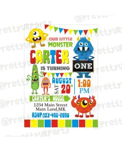 Monster Theme Invitations