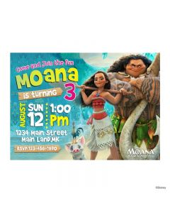 Moana Theme E-Invitations