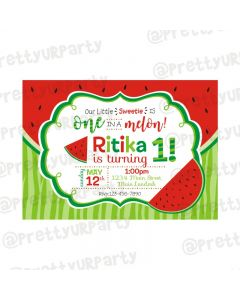 Watermelon Theme Invitations