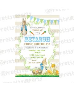 Peter Rabbit Theme Invitations