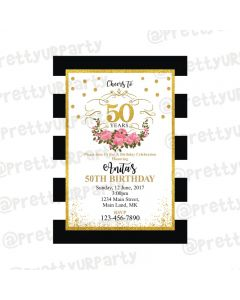 Milestone Birthday Theme Invitations