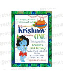 Krishna Theme E-Invitations