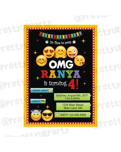 Emoji Theme Invitations